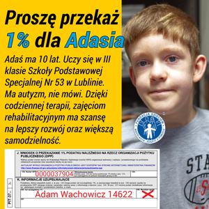 Adam Plakat 1 proc 2018 FB 300x300